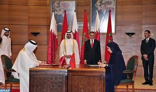 Coopération Maroc-Qatar: Signature de 11 accords et mémorandums d'entente