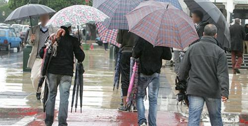 De fortes pluies et des averses modérées prévues de dimanche à mardi dans plusieurs régions du Royaume