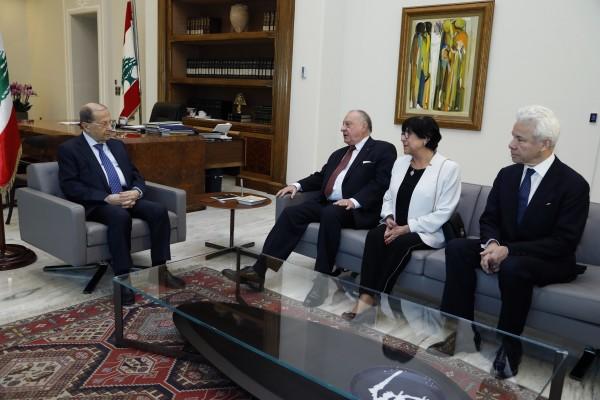 OEG rencontre M. Michel Aoun, président de la République du Liban