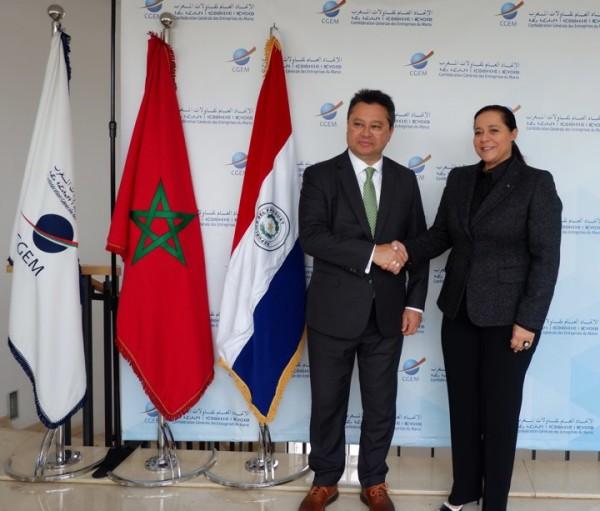 La Présidente de la CGEM a eu une séance de travail et le Ministre de l'Industrie et du Commerce du Paraguay