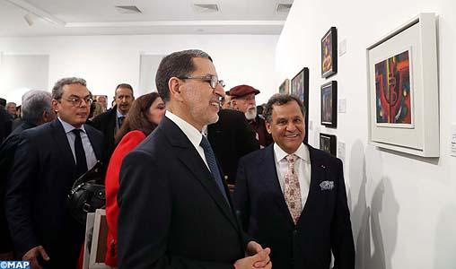"""Vernissage à Rabat de l'exposition """"Ahmed Cherkaoui : entre modernité et enracinement"""""""