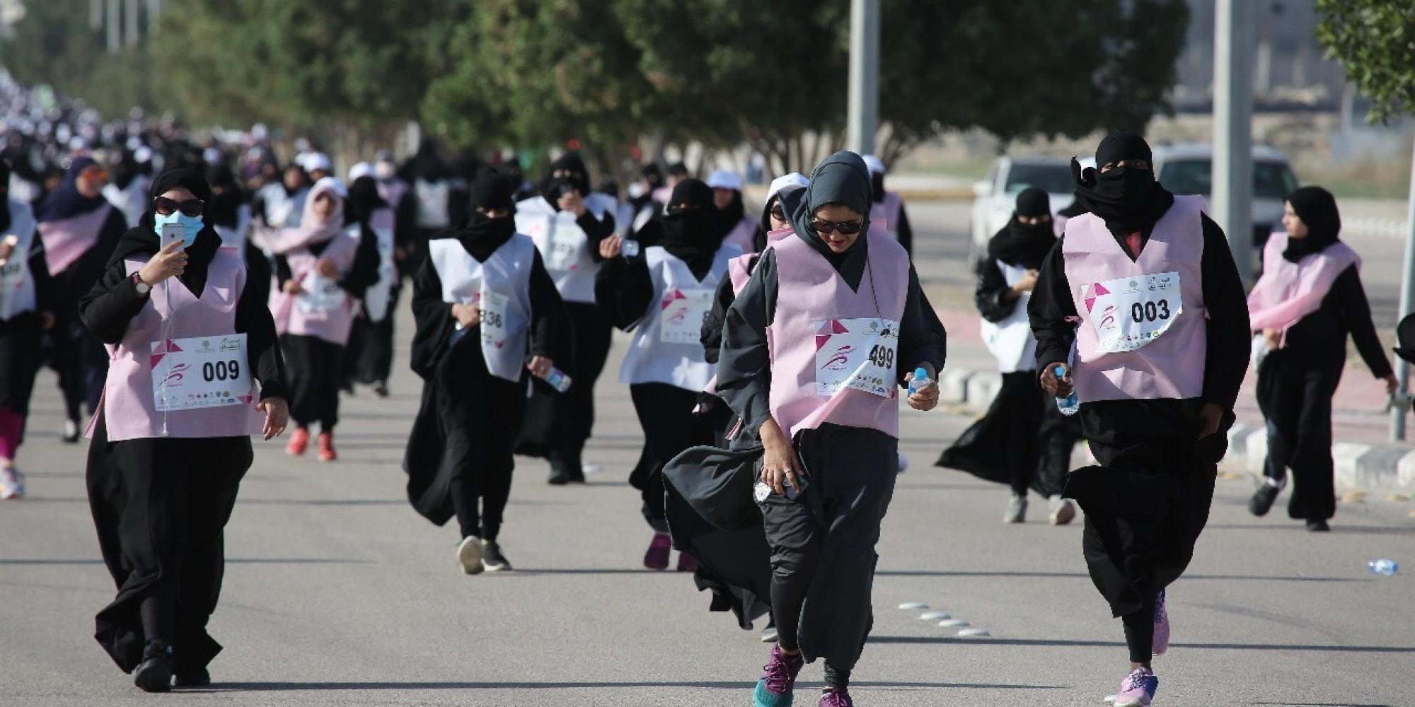 Femmes saoudiennes participent à un marathon