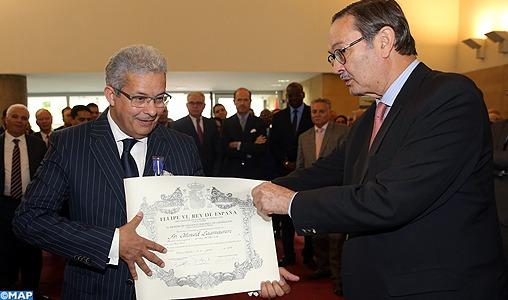 Ahmed Laamoumri décoré de la Croix d'Officier de l'ordre du Mérite civil du Royaume d'Espagne