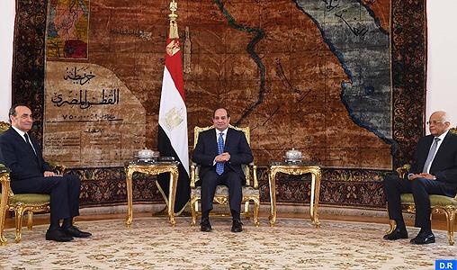 Le Président égyptien réitère le soutien de son pays à l'intégrité territoriale du Royaume du Maroc