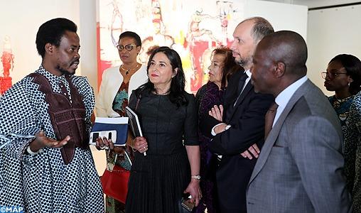"""Vernissage à Rabat de l'exposition """"IN-DISCIPLINE"""" d'une pléiade d'artistes béninois"""