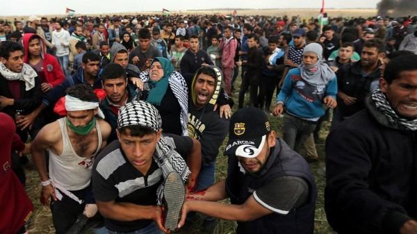 Gaza: 35 blessés dans des affrontements avec l'armée israélienne