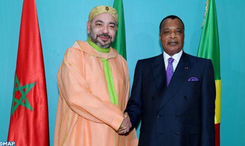 SM le Roi à Brazzaville pour participer au Sommet des Chefs d'Etat et de gouvernement de la Commission Climat et du Fonds Bleu du Bassin du Congo