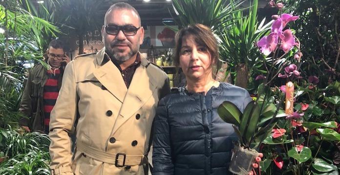 Le roi Mohammed VI avec une citoyenne française