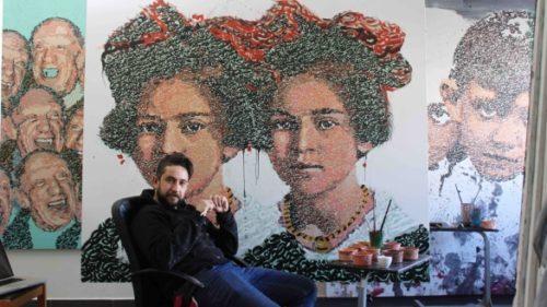 "Casablanca: Vernissage de l'exposition ""Double"" de l'artiste Zakaria Ramhani"