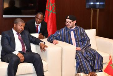 SM le Roi reçoit à Brazzaville le président de la République d'Angola
