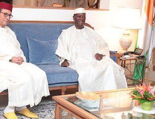 MM. Amara et Zarrou reçus à Abidjan par le président Ouattara