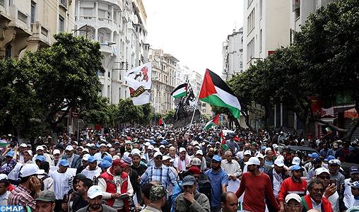 Casablanca: Marche populaire de solidarité avec le peuple palestinien