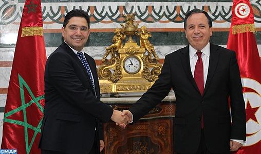 Entretiens à Tunis entre M. Bourita et son homologue tunisien pour renforcer la coopération bilatérale
