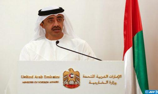 Les Emirats Arabes Unis soutiennent la marocanité du sahara et condamnent les activités terroristes de Hezbollah et du polisario