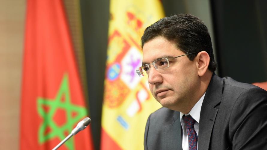 """M. Bourita salue le rôle """"constructif"""" joué par l'Espagne dans la recherche d'une solution politique à la question du Sahara"""