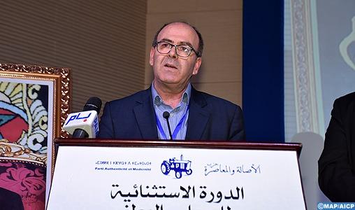 Hakim Benchamach élu nouveau secrétaire général du Parti authenticité et modernité