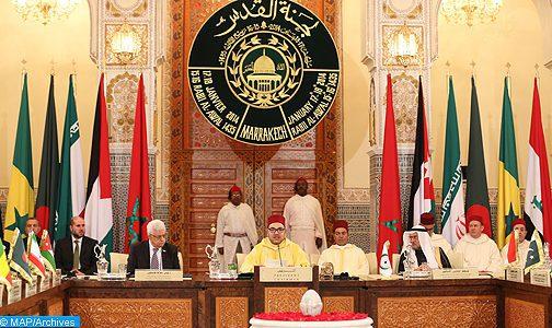 Sa Majesté le Roi à Mahmoud Abbas: «Nous réitérons notre rejet de l'acte unilatéral d'instaurer l'ambassade américaine dans al-Qods»