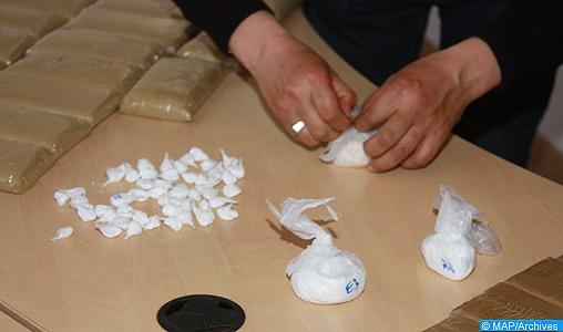Saisie jeudi (28/03/13) à Casablanca, de près d'un quart de kg de cocaïne. (MAP/Ph. Zidi).