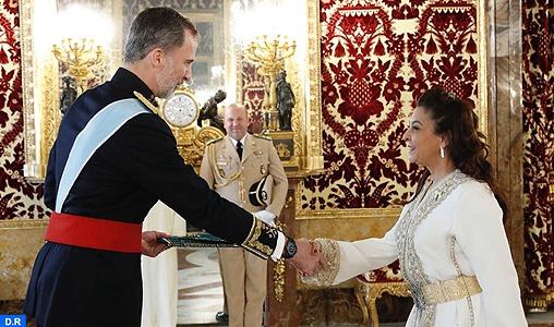 Mme Benyaich remet ses lettres de créance au Roi Felipe VI d'Espagne