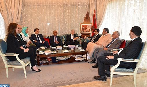 Mémorandum de révision de la loi de finances 2018: M. El Othmani s'entretient avec une délégation du Parti de l'Istiqla
