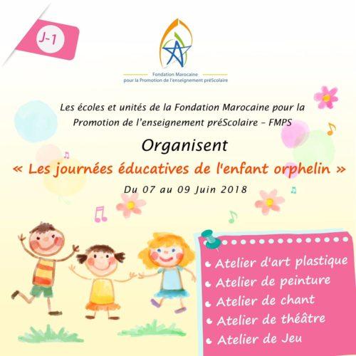 La FMPS organise les « Journées éducatives de l'enfant orphelin » du 07 au 09 juin 2018