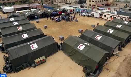 Hôpital de campagne marocain à Gaza : Un staff médical spécialisé au chevet des blessés palestiniens