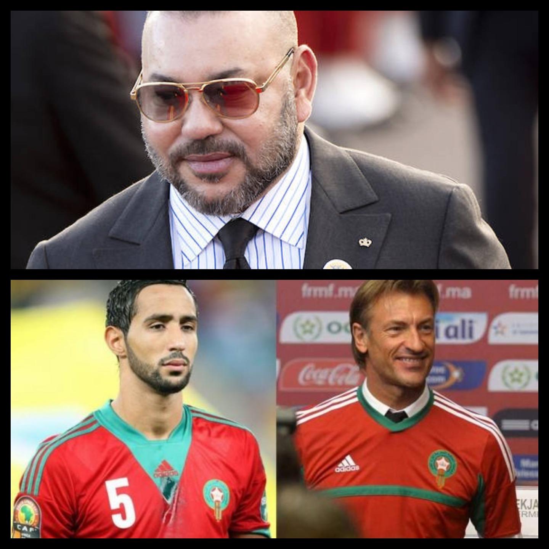 SM le Roi a eu un entretien téléphonique avec le sélectionneur et le capitaine de l'équipe nationale de football