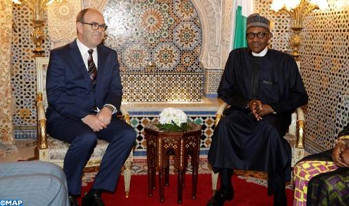 Le Président nigérian reçoit le président de la Chambre des conseillers