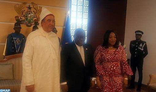 L'ambassadeur du Maroc au Ghana présente ses lettres de créance au président Nana Akufo Addo