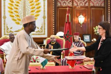 SM le Roi et le Chef de l'Etat nigérian président la signature de trois accords de coopération bilatérale