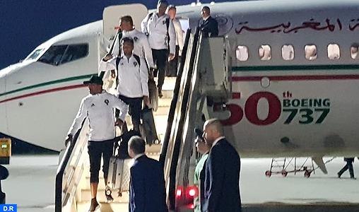 Mondial 2018 : Arrivée de l'équipe nationale marocaine en Russie