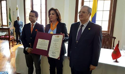 L'Ambassadeur du Maroc en Colombie décorée par le Sénat colombien