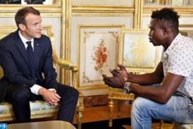 Un jeune Malien reçu à l'Elysée par le Président Macron grâce à un acte d'un exceptionnel héroïsme