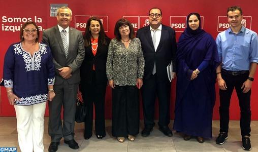 Visite de travail d'une délégation de l'USFP à Madrid