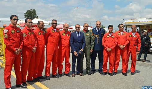 """La patrouille de la """"Marche Verte"""" participe à la célébration du 66è anniversaire de la Force aérienne portugaise"""