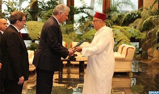 L'ambassadeur-du-Maroc-à-Cuba-remet-ses-lettres-de-créances-au-président-Miguel-Diaz-Canel-M