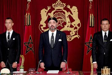 Discours du Trône: S.M. le Roi lance à partir d'Al Hoceima une feuille de route programmatique et des chantiers économiques, sociaux et humains
