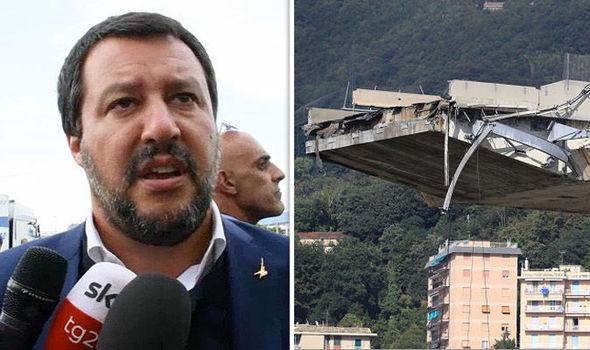 Viaduc effondré à Gênes : Salvini demande la suspension de certains péages sur l'autoroute