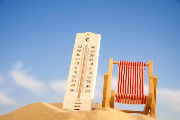 Températures prévues pour la journée du mercredi 14 août 2019