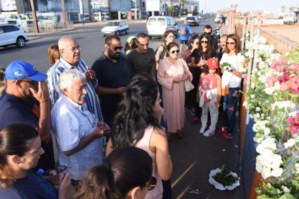 Cérémonie en hommage à Pierrette M'Jid sur les lieux de la tragédie