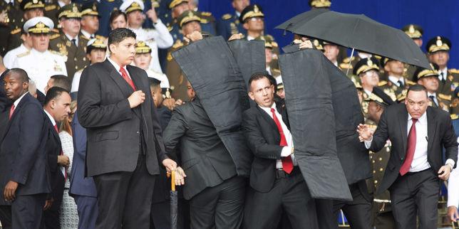 """""""Attentat"""" contre le président vénézuélien: le film des événements"""