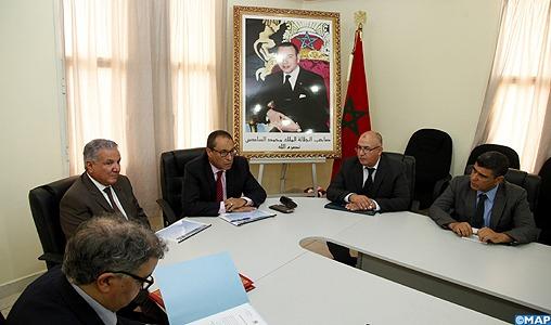 Amara s'informe de l'état d'avancement de plusieurs projets d'infrastructures dans la région de Laâyoune-Sakia El Hamra