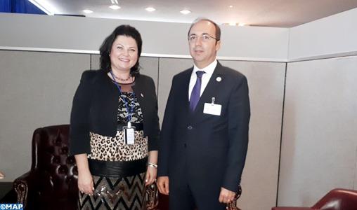 73è AGNU: Les maladies non-transmissibles et la santé mentale au menu des entretiens de Doukkali avec la Sous-Directrice générale de l'OMS