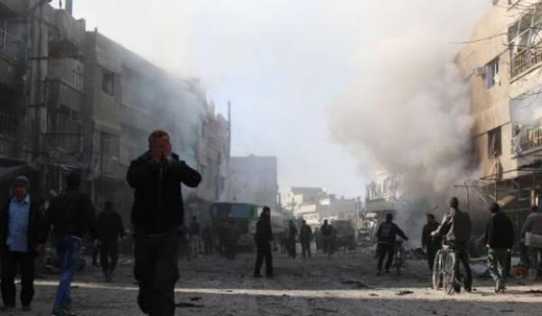 Syrie: Explosions à une base militaire près de Damas