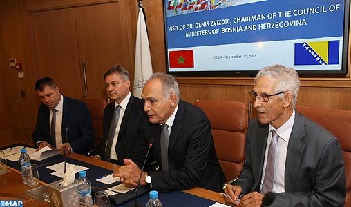 Maroc/Bosnie: Rencontre à Casablanca sur le développement des relations économiques