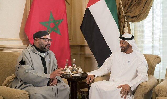 SM le Roi assiste au Conseil de SA Cheikh Mohamed Ben Zayed Al Nahyane