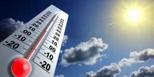 Températures minimales et maximales prévues pour la journée du dimanche 13 janvier 2019