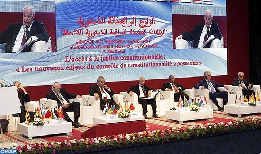 Coup d'envoi à Marrakech du colloque international sur la justice constitutionnelle