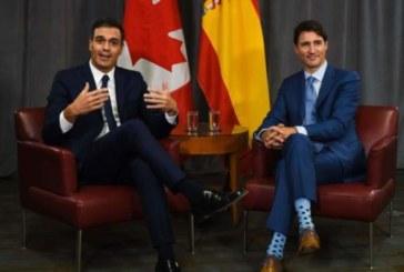 L'accord de libre-échange, au centre des discussions entre Trudeau et le premier ministre espagnol