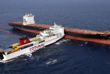 Collision au large de la Corse : les deux navires séparés